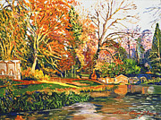 Gardenscape Paintings - Stowe Garden Dream by David Lloyd Glover