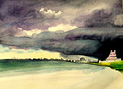 Storm Clouds Paintings - St.Petersburg Storm by Vanda Sucheston Hughes