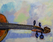Violin Paintings - Stradivarius by Michael Creese