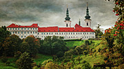 Prague Towers Prints - Strahov Monastery Print by Joan Carroll