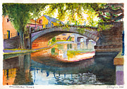 Overhanging Paintings - Strasbourg Autumn Evening by Dai Wynn