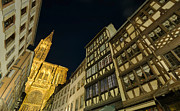 Alsace Originals - Strasbourg cathedral at night by Ioan Panaite