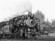 Pen  Drawings Originals - Strasburg Railroad by Bruce Kay