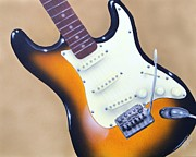 Music Mixed Media - Strat O. Caster by Chris Fraser