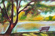 Benches Paintings - Stratford View by Sheila Diemert