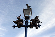 Stratford's Jewish Lamp Post Print by Terri  Waters
