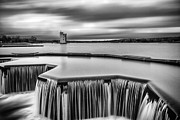 Black And White Prints Prints - Strathclyde Park Scotland Print by John Farnan