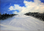 Ski Paintings - Stratton Clouds by Ken Ahlering