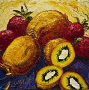 Strawberries And Kiwis Print by Paris Wyatt Llanso