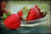 Edible Framed Prints - Strawberries Framed Print by Darren Fisher