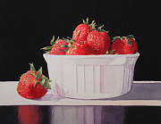 Strawberries Paintings - Strawberries by Jean Yates