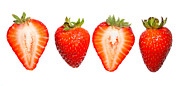 Four Strawberries Prints - Strawberries Print by Nicholas Burningham
