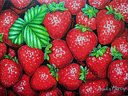 Drinka Mercep - Strawberries Painting...