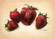 Photorealistic Painting Posters - Strawberries  Poster by Sierra Rasberry