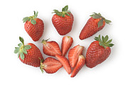 Isolated Pastels Prints - Strawberries Print by Steven Jones