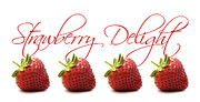 Four Strawberries Prints - Strawberry Delight Print by Natalie Kinnear