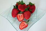 Strawberry Art Framed Prints - Strawberry Feast Framed Print by Mary Deal