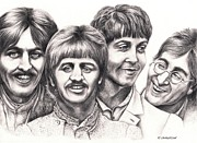 Ringo Starr Drawings - Strawberry Fields - forever by Margaret Sanderson
