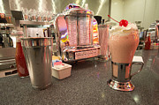 Jukebox Art - Strawberry Malt Shake  by Rob Hawkins