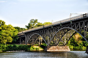 Rowing Crew Digital Art Posters - Strawberry Mansion Bridge and the Schuylkill River Poster by Bill Cannon