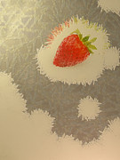 Black Diet Paintings - Strawberry by Odon Czintos