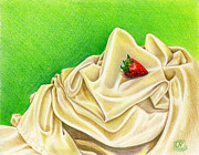 Strawberry Drawings Posters - Strawberry Passion Poster by Nancy Cupp