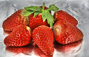 Food And Beverage Photo Originals - Strawberry Sunday by Tracy  Hall