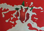 Frucht Posters - Strawberry Poster by Sven Fischer