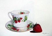 Cathy Jourdan - Strawberry Tea Cup