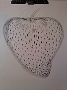 Strawberry Drawings Framed Prints - Strawberry Framed Print by Thommy McCorkle