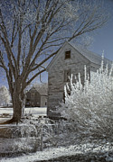 Portsmouth Prints - Strawbery Banke in IR Print by Joann Vitali