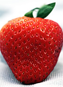 Strawberry Prints Framed Prints - Strawbery Framed Print by John Rizzuto