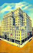 Philadelphia Pa Painting Posters - Strawbridge Department Store In Philadelphia Pa 1935 Poster by Dwight Goss
