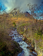 Etive Mor Framed Prints - Stream below Buachaille Etive Mor Framed Print by Gary Eason