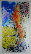 Aquatic Glass Art Originals - Streamline by Michelle Rial