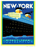 New York Art Posters - Streamliner NY Poster by Brian James