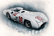 Stirling Moss Posters - Streamliner Poster by Peter Chilelli