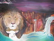 Lion Of Judah Paintings - Streams in the Desert by Rachael Pragnell
