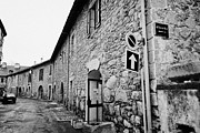 Old Street Photos - Street And Fortified Buildings Inside The City Walls Of Mont-louis Pyrenees-orientales France by Joe Fox