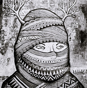 Alienate Prints - Street Art In Kochi Print by Shaun Higson