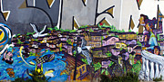 Architecture Prints - Street art Valparaiso Chile 11 Print by Kurt Van Wagner