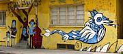 Street Art Valparaiso Chile 12 Print by Kurt Van Wagner