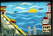 Architecture Prints - Street art Valparaiso Chile 13 Print by Kurt Van Wagner