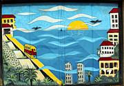 Street Art Valparaiso Chile 13 Print by Kurt Van Wagner