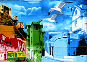 Architecture Prints - Street art Valparaiso Chile 15 Print by Kurt Van Wagner