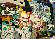 Street Art Valparaiso Chile 6 Print by Kurt Van Wagner