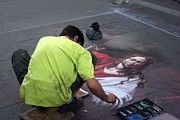 Religious Artist Photos - Street Artist in Rome by Andy Fletcher