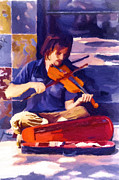 Violin Digital Art - Street Concerto by John Haldane