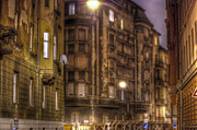 Haze Digital Art Prints - Street corner Budapest Print by Nathan Wright