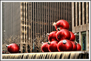 Skates Prints - Street decorations in NYC Print by Geri Scull